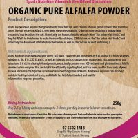 Organic pure alfalfa powder 100g