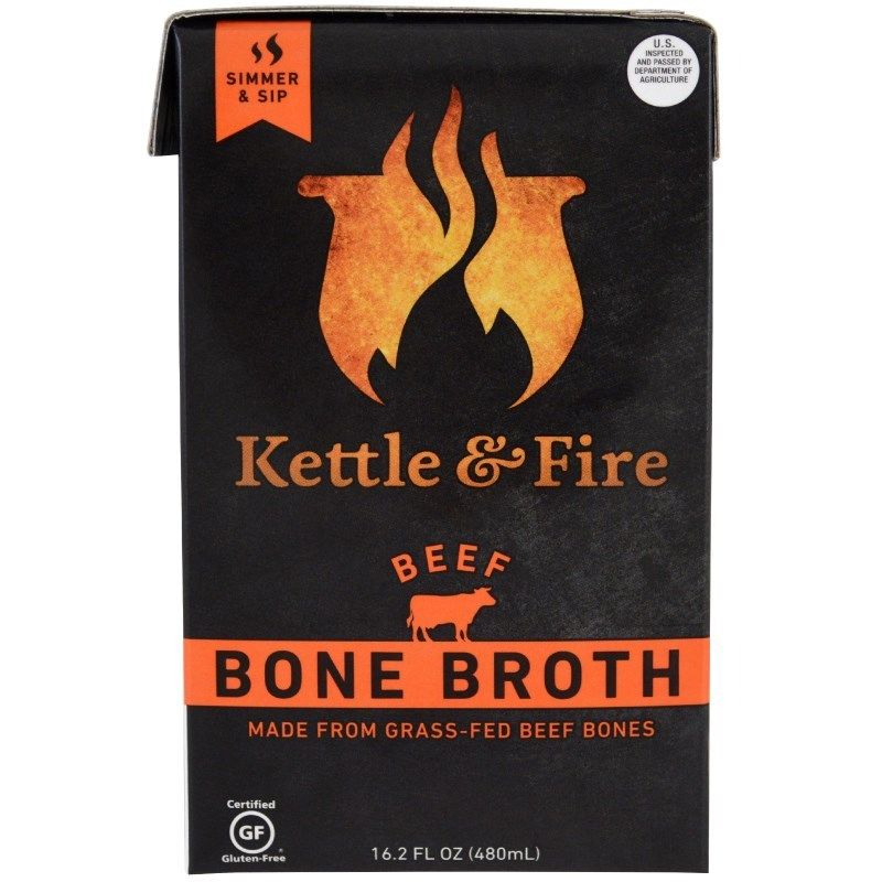 Kettle & Fire, Bone Broth, Beef, (480 g)
