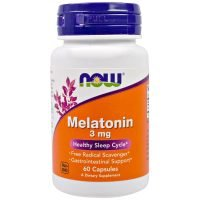 Now Foods, Melatonin, 3 mg, 60 Capsules