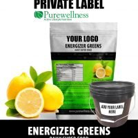 Energizer Greens with real Lemon Juice Powder (Private Label)