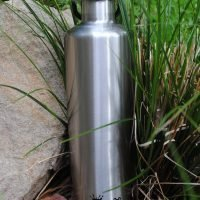 CHEEKI Stainless Steel Bottle  Insulated - Stainless silver 1L