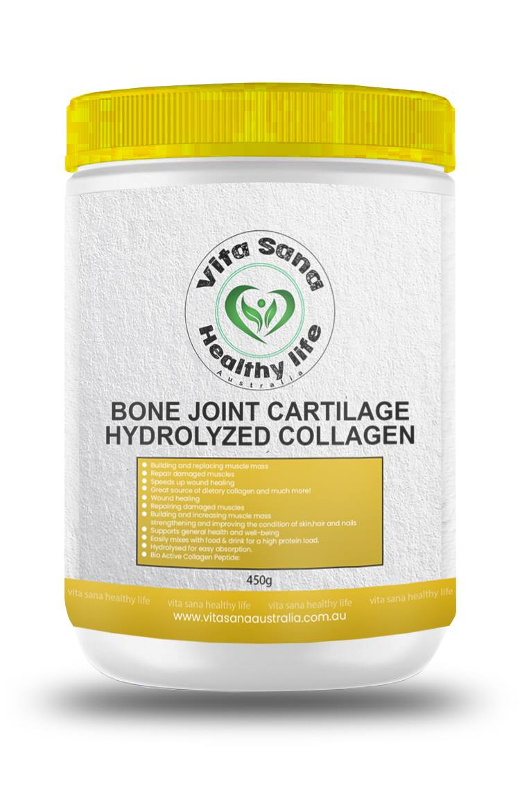 vitasana bone joint cartilage hydrolyzed collagen 450g