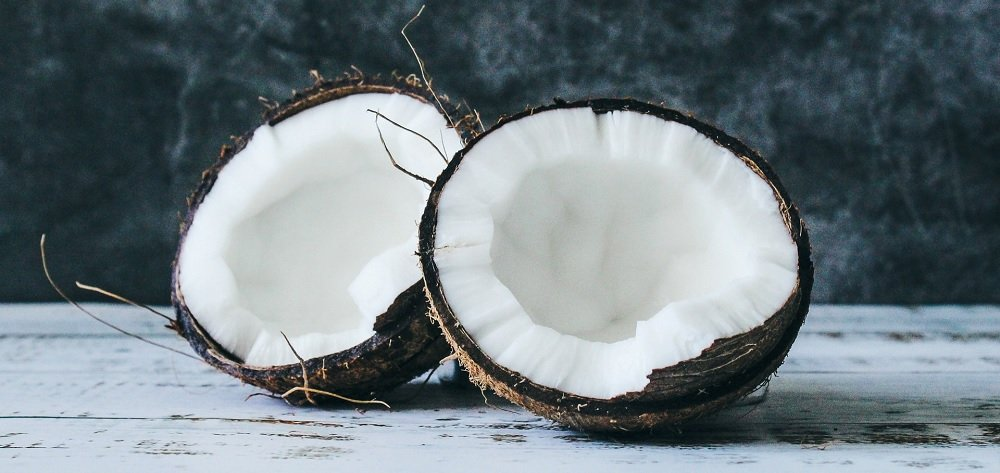 one coconut opened-up
