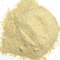 an off-white granular powder
