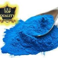 a fine blue powder