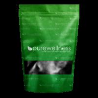 a green bag of powder
