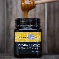 Small plastic honey jar